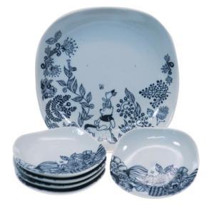 パーティー 皿 6枚セット 食器ギフトセット くまのプーさん ディズニー フラワー 前畑 20.5c...