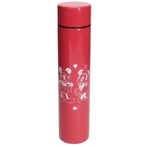 ミニ 保温 保冷 水筒 ロング ポケットステンレスボトル レッド D-MF56 ミッキー&ミニー ディズニー 前畑 直径4.5×19.5cm|velkommen