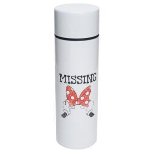ミニ 保温 保冷 水筒 ポケットステンレスボトル ホワイト D-MF62 ミニーマウス ディズニー 前畑 直径4.5×14.5cm|velkommen