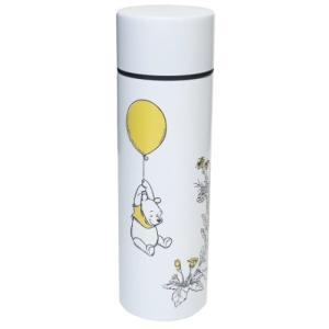 ミニ 保温 保冷 水筒 ポケットステンレスボトル ディズニー くまのプーさん ホワイト D-WP25 前畑 直径4.5×14.5cm 110ml|velkommen