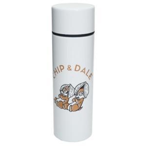 ミニ 保温 保冷 水筒 ポケットステンレスボトル ホワイト D-CD05 チップ&デール ディズニー 前畑 直径4.5×14.5cm 110ml|velkommen