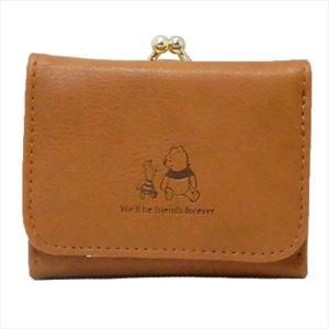 ミニウォレット 三つ折り財布 くまのプーさん 合皮ワンポイント ディズニー マリモクラフト かわいい ギフト雑貨 キャラクター velkommen