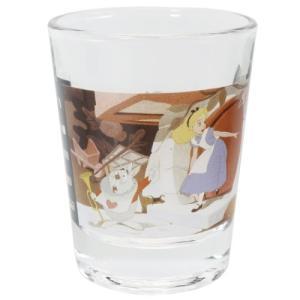 ミニグラス ショットグラス アリスと白うさぎ ふしぎの国のアリス ディズニー マリモクラフト ミニガラスコップ プレゼント かわいい 女の子 ギフト食器 日本製 velkommen