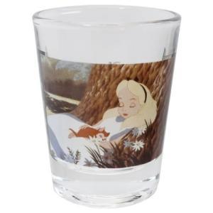 ショットグラス ミニグラス ディズニー ふしぎの国のアリス アリスとダイナ マリモクラフト ミニガラスコップ プレゼント かわいい 女の子 ギフト食器 日本製 velkommen