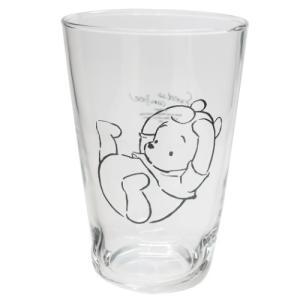 ソックス グラス M ガラスコップ くまのプーさん ふんわりプー 寝ころび ディズニー マリモクラフト ギフト食器 velkommen