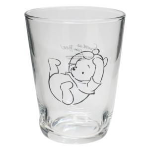 ソックス グラス S ガラスコップ ディズニー くまのプーさん ふんわりプー 寝ころび マリモクラフト ギフト食器 キャラクター velkommen