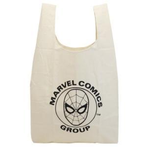 エコバッグ コットン マルシェバッグ スパイダーマン SPIDER-MAN マーベル MARVEL マリモクラフト お買い物かばん プレゼント キャラクター|velkommen
