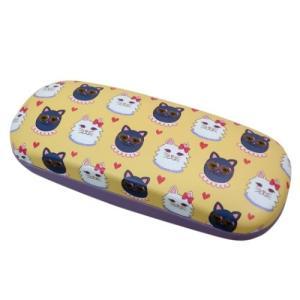 竹井千佳 メガネケース 眼鏡ケース 猫 松尾繊維工業 ハードタイプ プレゼント|velkommen