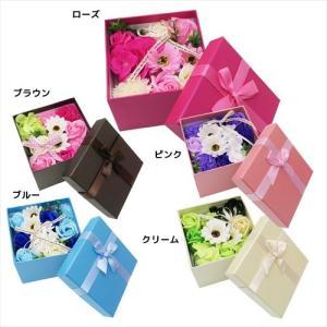 ソープ フラワー シャボン フラワー 5 COLOR BOX ポピー ギフト 雑貨 贈り物 石鹸 造花|velkommen