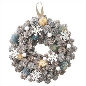 クリスマスリース スノーリースM オフホワイト パセオ Xmas 直径24cm クリスマス用品 velkommen