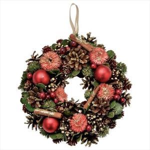 クリスマスリース シナモンリースM レッド Xmas パセオ 直径24cm クリスマス用品 velkommen