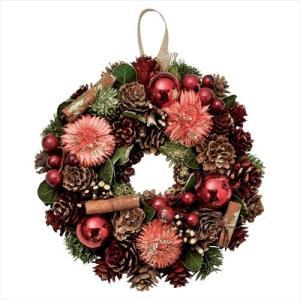クリスマスリース シナモンリースS レッド Xmas パセオ 直径18cm クリスマス用品 インテリア雑貨 velkommen