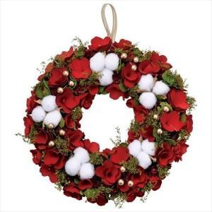 クリスマスリース アカネコットンリースL Xmas レッド パセオ velkommen