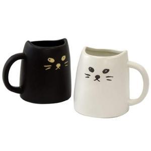 黒ねこと白ねこのペアマグカップ おもしろ食器ギフト バースデー 誕生日ギフト 結婚祝い プレゼント|velkommen