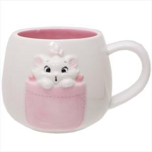 マグカップ 陶器MUG おしゃれキャット マリー ポケット ディズニー サンアート 300ml ギフト雑貨 キャラクター|velkommen