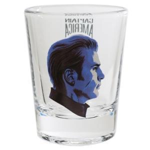ミニ ガラス タンブラー ショットグラス マーベル アベンジャーズ 4 エンドゲーム キャプテンアメリカ サンアート 50ml velkommen