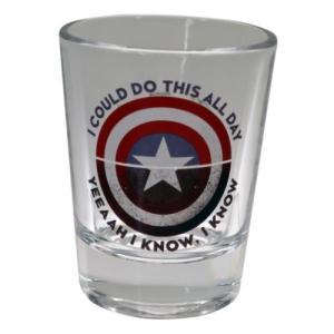 ショットグラス ミニ ガラス タンブラー キャプテンアメリカ シールド マーベル サンアート velkommen