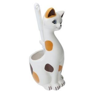 三毛猫 インテリア雑貨 トイレブラシ立て サンアート ねこ 13×12.5×31cm velkommen