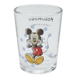 ショットグラス ミニ ガラス タンブラー ディズニー ミッキーマウス MOGUMOGUシリーズ サンアート 直径5×6.3cm コレクション雑貨 velkommen