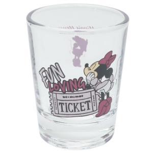 ショットグラス ミニ ガラス タンブラー HIPシリーズ ミニーマウス ディズニー サンアート 直径5×6.3cm velkommen