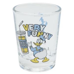 ショットグラス ミニ ガラス タンブラー ディズニー ドナルドダック HIPシリーズ サンアート 直径5×6.3cm コレクション雑貨 velkommen