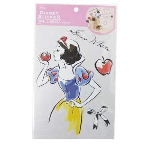 A5ミニウォールステッカー ミニホームデコシール 白雪姫 S&Cコーポレーション ディズニープリンセス 壁デコシール 子供部屋|velkommen