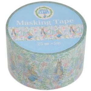 25mm マステ マスキングテープ ガーデン ピーターラビット S&Cコーポレーション DECOテープ デコレーション 絵本キャラクター|velkommen