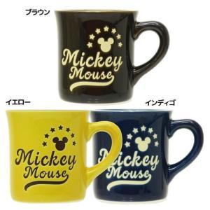 マグカップ ミッキーマウス ブルックリンスタイル ディズニー 三郷陶器 直径約8.6×9cm ギフト食器|velkommen
