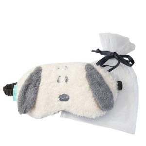 アイマスク 巾着付き アイピロー ピーナッツ スヌーピー グレー 粧美堂 旅行用品 トラベル雑貨 プレゼント|velkommen