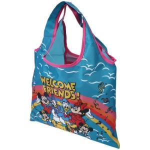 折りたたみ ミニ ショッピングバッグ エコバッグ ディズニー ミッキーマウス フレンズ スモールプラネット 32.5×40cm お買い物かばん|velkommen