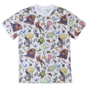 キャラクター Tシャツ T-SHIRTS オールスター 総柄 美女と野獣 ディズニー スモールプラネット Mサイズ Lサイズ プレゼント velkommen