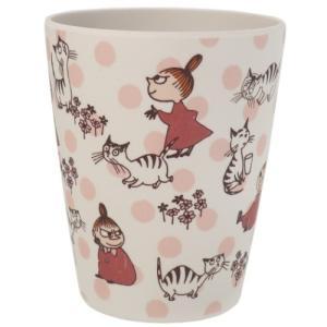 バンブーカップ コップ リトルミイと猫 ムーミン 北欧 スモールプラネット 350ml 新生活準備 バンブー食器 プレゼント キャラクター|velkommen