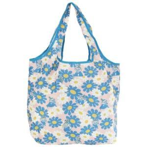 エコバッグ くるくる ショッピングバッグ ムーミン 北欧 リトルミイ 大きいお花 スモールプラネット お買い物かばん キャラクター|velkommen