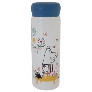 保温保冷 水筒 ステンレスボトル 北欧 ムーミン ラクガキ スモールプラネット 直径6.5×19cm|velkommen