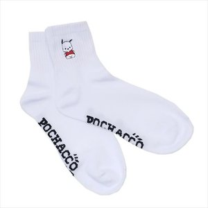 女性用白靴下 レディースワンポイント刺繍ソックス ポチャッコ サンリオ スモールプラネット 22〜24cm velkommen