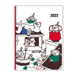 手帳 2022 A6 ウィークリー キッチン ムーミン 北欧 サンスター文具 キャラクター スケジュール帳|velkommen