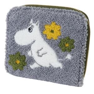 コインケース サガラ刺繍 カードケース グレー ムーミン 北欧 サンスター文具 11×9×1.5cm|velkommen