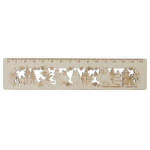 木製 15cm 定規 ものさし 北欧 ムーミン MU20SS B サンスター文具 15.7×3.5cm 新学期準備雑貨|velkommen