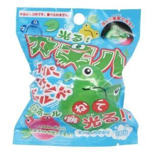 入浴剤 光るカエル バスボール  せっけんの香り サンタン 子供とお風呂|velkommen