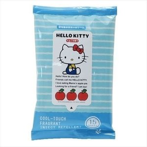 防虫剤 虫よけクールシート15枚入り ハローキティ リンゴの香り サンタン サンリオ ユーカリ精油成分配合 日本製 キャラクター|velkommen