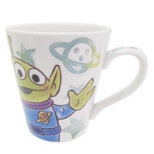 コップ 陶器製マグカップ トイストーリー エイリアン ディズニー ファジー柄 ティーズファクトリー 9×8×8cm 食器 キャラクター|velkommen