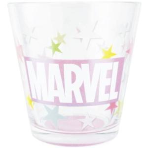 ガラス コップ フロスト グラス マーベル ロゴ パープル ティーズファクトリー MARVEL velkommen