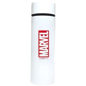 水筒 保冷 ステンレス ボトル ポケトル マーベル ロゴ ホワイト ティーズファクトリー ミニボトル|velkommen