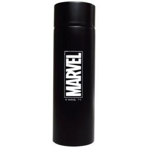 水筒 保冷 ステンレス ボトル ポケトル マーベル ロゴ ブラック ティーズファクトリー ミニボトル 直飲みボトル キャラクター|velkommen