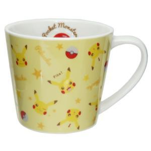 マグカップ 磁器製 MUG ポケットモンスター ポケモン ピカチュウ フェイスパターン ティーズファクトリー 直径8.8×8cm|velkommen