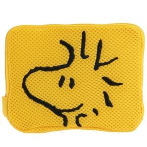 メッシュ フラットポーチ 不織布マスクケース ウッドストック スヌーピー ピーナッツ ティーズファクトリー 洗濯ネット 小物入れ 洗えるポーチ キャラクター|velkommen