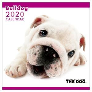 ブルドッグ 壁掛け 2020年 カレンダー THE DOG いぬ 令和2年暦 アニマル 写真 トライエックス 60×30cm|velkommen