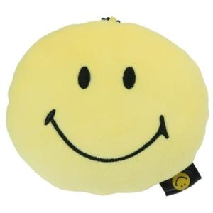 もちもち ぬいぐるみ フェイス マスコット マスコット スマイリーフェイス Smiley Face イエロー ユニック 直径12×3cm velkommen