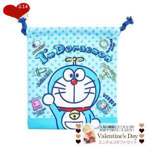 巾着袋 きんちゃくポーチ バレンタイン チョコセット ドラえもん  サンリオ ミニ チョコレート お...