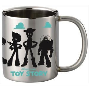 保温保冷マグカップ ステンレス二重マグカップ シルエット集合 トイストーリー ディズニー ヤクセル 300ml 食器ギフト キャラクター|velkommen